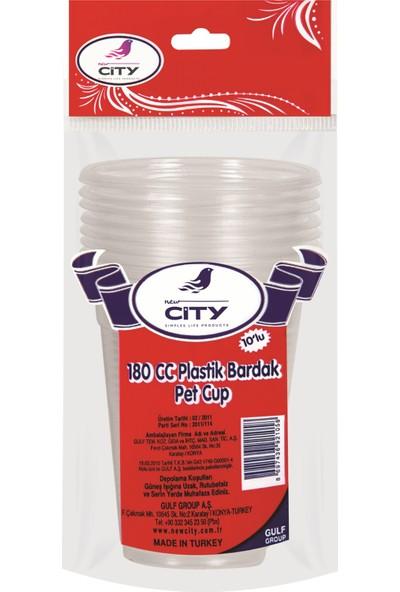 New City Seffaf Plastik Bardak 10 Lu