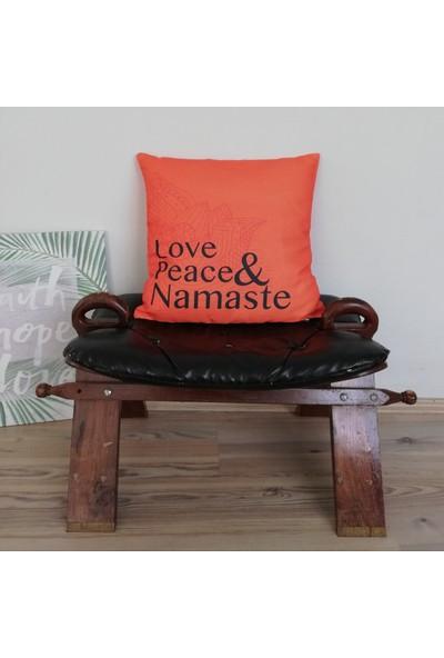 Angels in Town Yastık - Yoga&Peace&Namaste