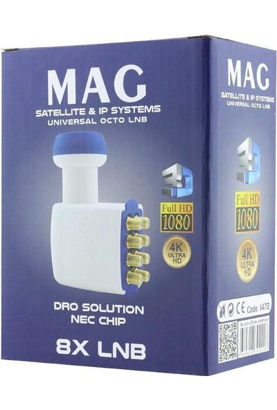 Mag Octo 8 Çıkışlı Full Hd Sekizli Lnb