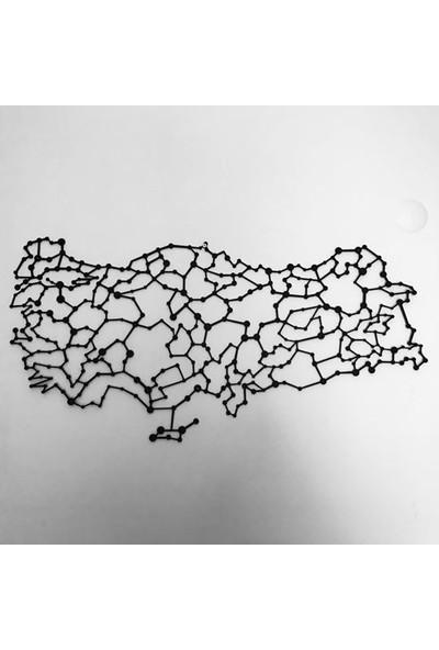 Foccaa Dizayn Metal Tablo Türkiye Haritası