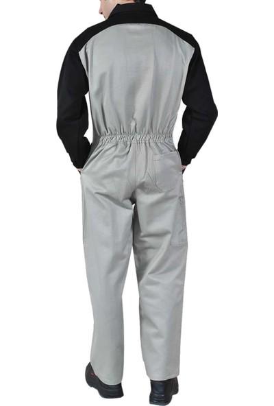 Şensel İş Tulumu Boy Tulum İş Elbisesi Bej Tulum