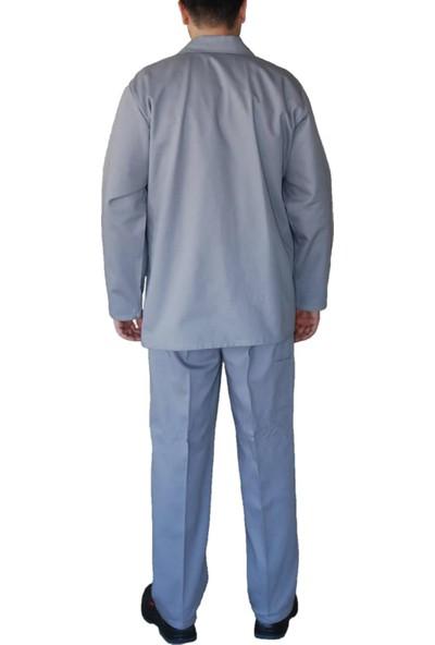 Şensel İş Elbisesi Takım Ceket Pantolon Mevsimlik (Gri Açık)