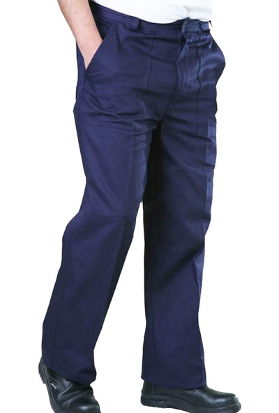 Şensel İş Pantolonu Gabardin İş Elbisesi İş Güvenliği ( Lacivert )