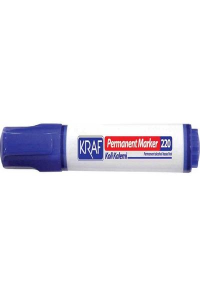 Kraf Permanent Markör Yuvarlak Uc 220 Mavi