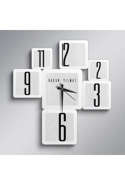 Leydi Collection Kişiye Özel İsimli Farklı Tasarım Ahşap Duvar Saati - Model 47E