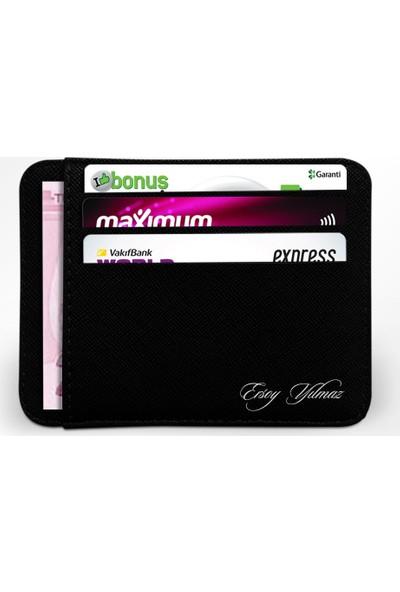 Leydi Collection Kişiye Özel Siyah Kredi Kartlık Cüzdan