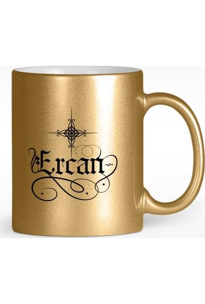 Leydi Collection Kişiye Özel Kaligrafi İsim Tasarımlı Altın Yaldızlı Kupa Bardak - 1