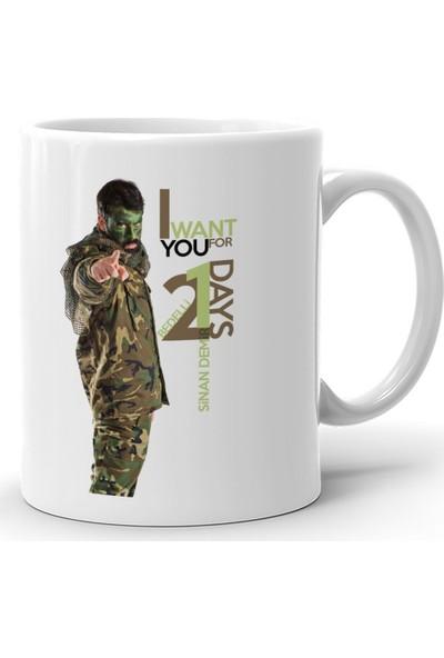 Leydi Collection Kişiye Özel Bedelli Askerlik Tasarımlı Beyaz Kupa Bardak - 5