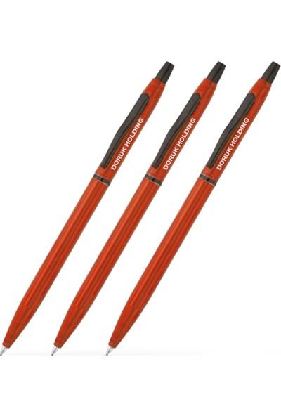 Leydi Collection Kişiye Özel Kırmızı Metal Tükenmez Kalem (20 Adet) Model 46
