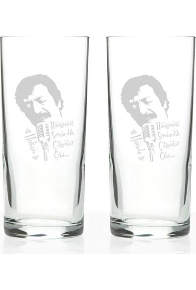 Leydi Collection Kişiye Özel 2'li Hangimiz Sevmedik Çılgınlar Gibi Rakı Bardağı Seti