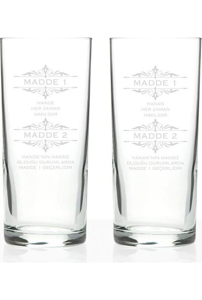 Leydi Collection Kişiye Özel 2'li Rakı Bardağı Seti (Model 19)
