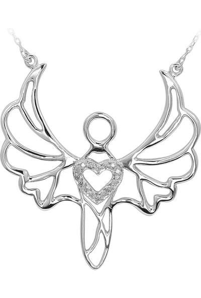Ariş Pırlanta Psf00094-0145 Pırlantalı Sevgi Meleği Cebrail Kolye