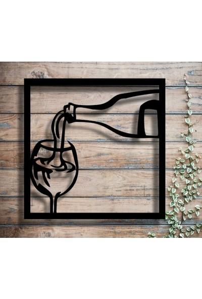 Homecept Ahşap Şarap Temalı Dekoratif Duvar Tablosu