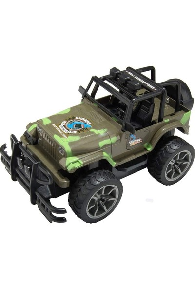 Assault Vanguard R/C 1:15 Uzaktan Kumandalı Araba Şarjlı Büyük Teker Askeri Jeep