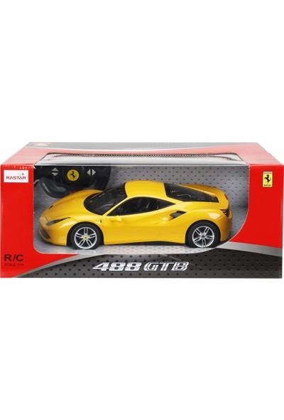 Rastar R/C 1/14 Uzaktan Kumandalı Ferrari 488 GTB Işıklı Araba - Sarı