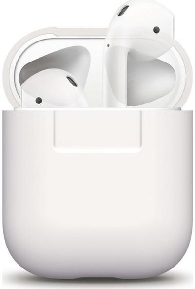 Elago Apple Airpods Silikon Kılıf Beyaz