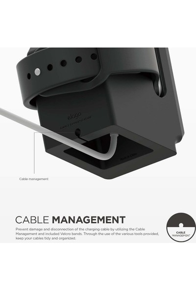 Elago Apple Watch Şarj Standı W3 Retro Serisi - Siyah