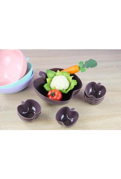 Royelia Plastik 7 Parça Elma Salata Seti Asorti