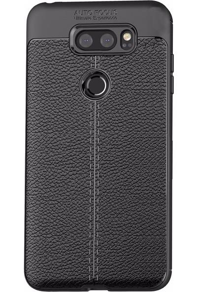 Microcase LG V30 Leather Effect TPU Silikon Kılıf