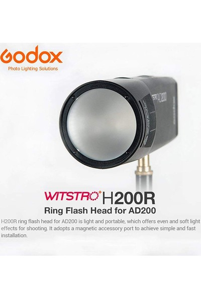 Godox H200R Yuvarlak Soft Flaş Kafası ( AD200 )
