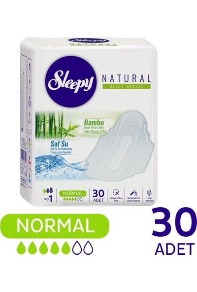 Sleepy Natural Ultra Hassas Hijyenik Ped Normal (30 Adet)