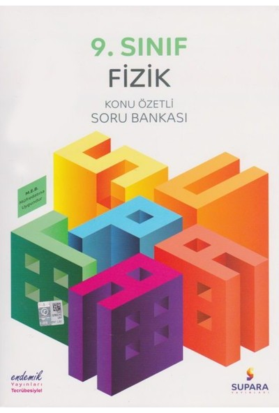 Supara 9. Sınıf Konu Özetli Fizik Soru Bankası - Lise - Supara Yayınları (B)