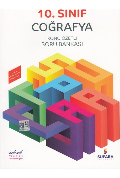 Supara 10. Sınıf Konu Özetli Coğrafya Soru Bankası - Lise - Supara Yayınları (B)