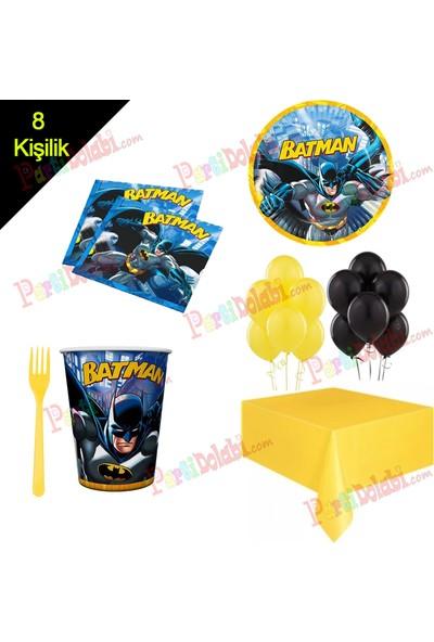 Balonpark 8 Kişilik Batman Temalı Doğum Günü Süsleri Parti Konsept Ürünleri