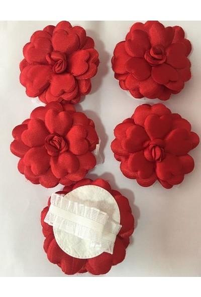 Balonpark 12 Adet Kırmızı El Gülü Düz Kına Ve Düğün Malzemeleri