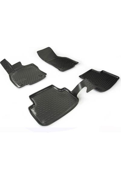 Novline Seat Leon 3 3D Paspas Siyah 4 Prç 2012-