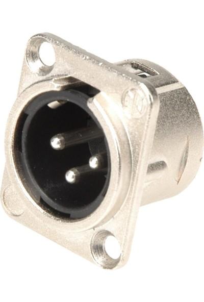 Neutrik Nc3Mdl-1 3 Pin Şase Tipi Erkek Xlr Konnektör