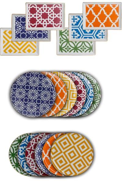 Porland Morocco Serisi 18 Parça Servis Takımı