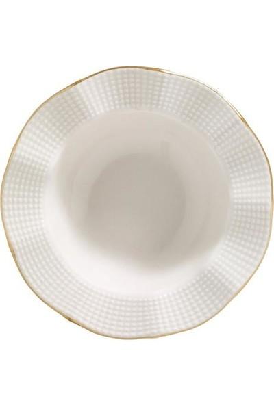 Kütahy Porselen Milena Krem Fileli 83 Parça 12 Kişilik Yemek Takımı
