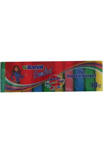 Banat Comfort 10'Lu Renkli Bulaşık Süngeri