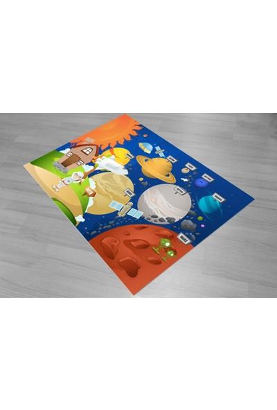 Consept Home 2078 Uzay ve Astranot Temalı Antialerjik 3D Çocuk Odası Halısı 80X150