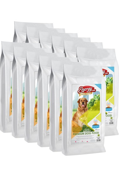 Energy Premium Kuzulu & Pirinçli Köpek Maması - 180 kg- 12 Paket