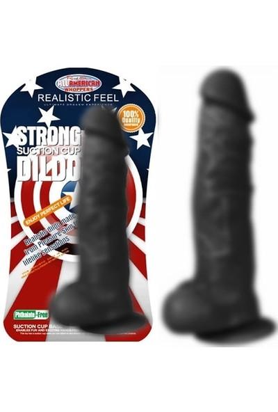 Xise 27 cm Vantuzlu Gerçekçi Realistik Zenci Penis Dildo