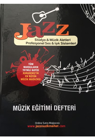 Jazz Kalın Yapraklı Ciltli Solfej Müzik Defteri Sol Anahtarsız Büyük Boy
