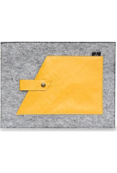 Freyja Keçe ve Deri Notebook Kılıfı - Sarı