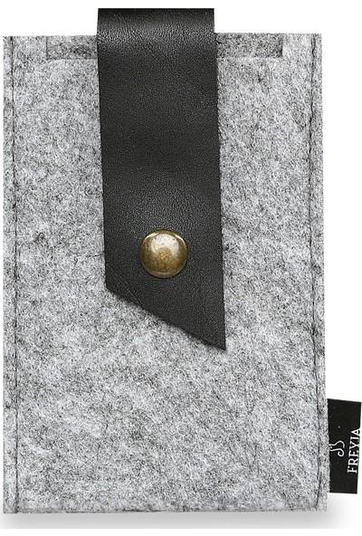 Freyja Keçe ve Deri Telefon Kılıfı - Siyah