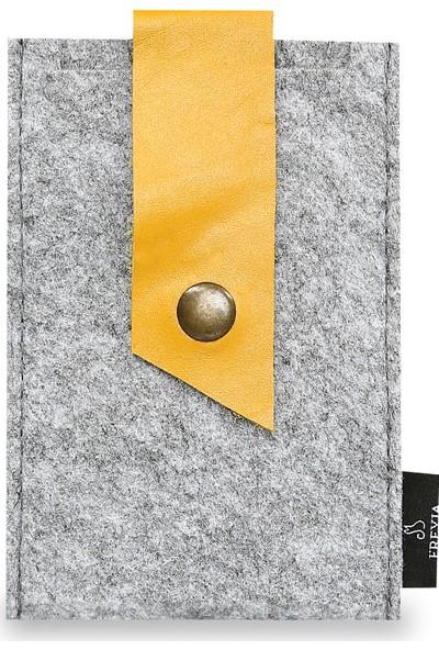 Freyja Keçe ve Deri Telefon Kılıfı - Sarı