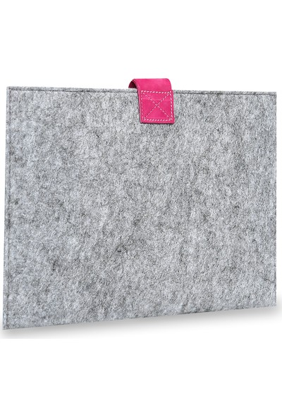 Freyja Keçe ve Deri Tablet iPad Kılıfı - Fuşya