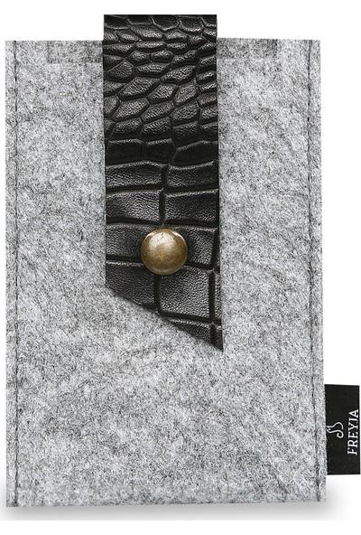 Freyja Keçe ve Deri Telefon Kılıfı Desenli Siyah