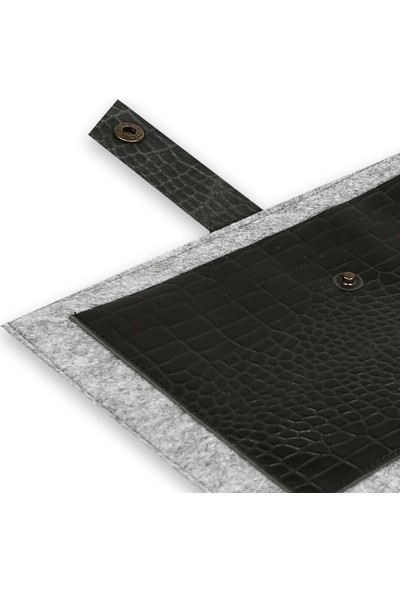 Freyja Keçe ve Deri Tablet iPad Kılıfı - Siyah