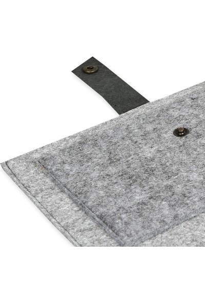 Freyja Keçe ve Deri iPad Tablet Kılıfı Desenli Siyah
