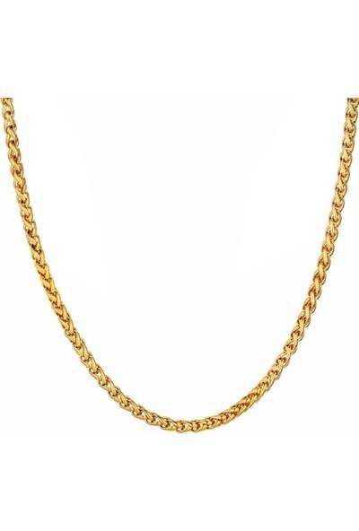 Chavin 5 Mm. Sarı Gold Burgu Çelik Bayan-Erkek Zincir Dt50-5