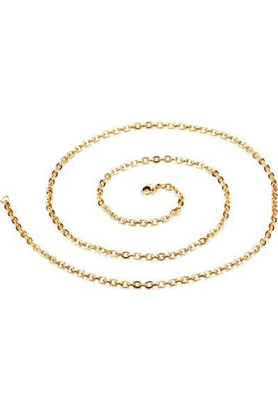 Chavin Bayan-Erkek 75 Cm. 2Mm. Gold İpc. Çelik Kolye Zinciri Dt41