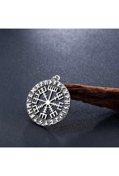 Chavin Viking Rune Viking Odin Sembol Çelik Kolye Ds70