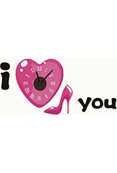Xolo Sticker Duvar Saati Yapışkanlı Duvar Saati Dekoratif Duvar Saati Çıkartma Saat Dekor Saat