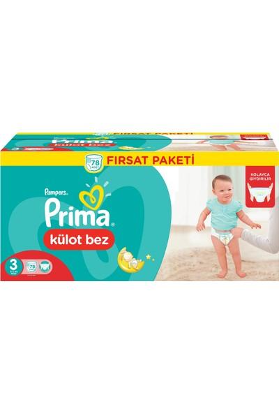 Prima Külot Bez 3 Beden Midi 6 - 11 kg 78'li Fırsat Paketi